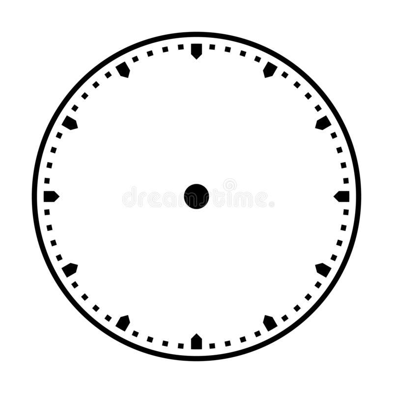 Free Clock Dial Vector. Precise And Simple Design, Minimalist Style, Black And White Color. Royalty Free Stock Photo - 164715415