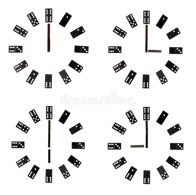Clock dials collage royalty free stock photos