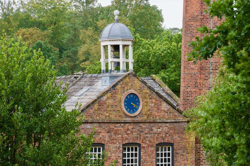Clock and the dome. Quarry bank mill wilmslow Cheshire England united kingdom stock photography