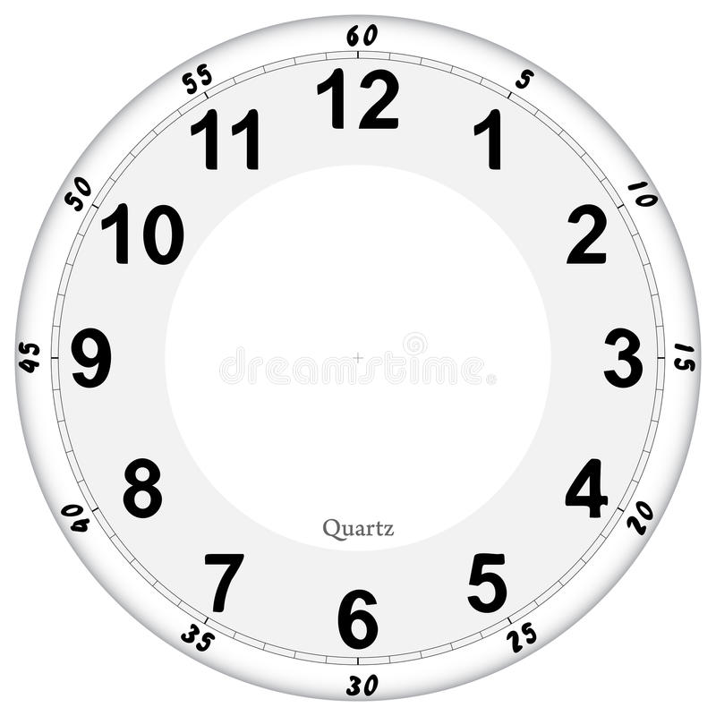 Clock face. Pattern, easy to resize stock illustration