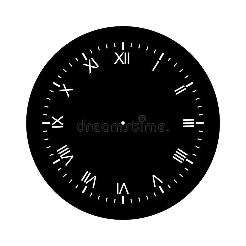Clock face blank isolated on white background. Image of clock face blank isolated on white background stock illustration