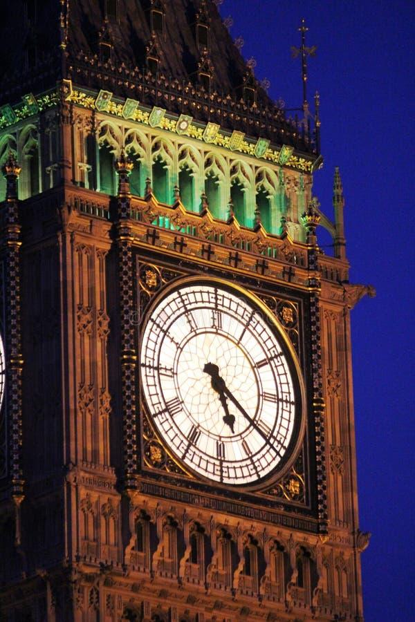 Clock face on Elizabeth Tower (Big Ben), London stock photo