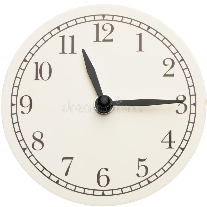 Clock face isolated on white background. Clock face Modern minimalistic design black and white design isolated on white background stock photos
