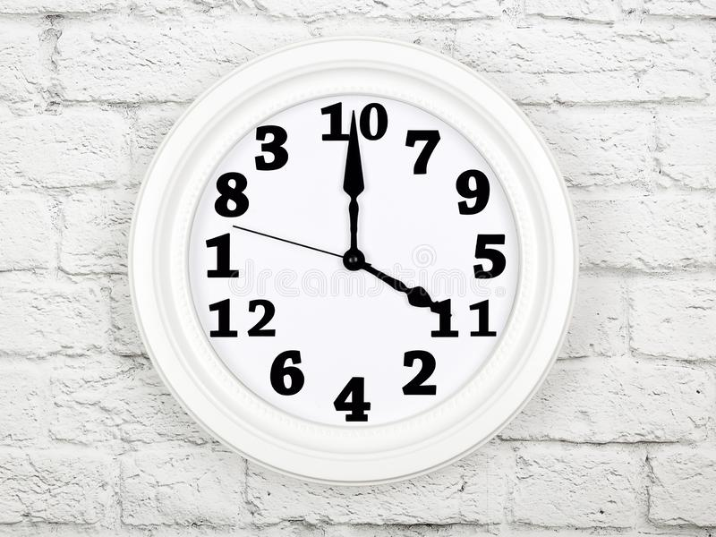 Clock with figures mixed up. Concept of disorder and chaos stock photo