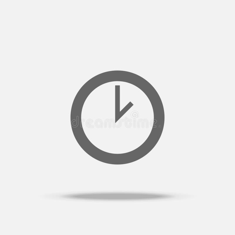 Clock Flat Design vector icon with shadow vector illustration