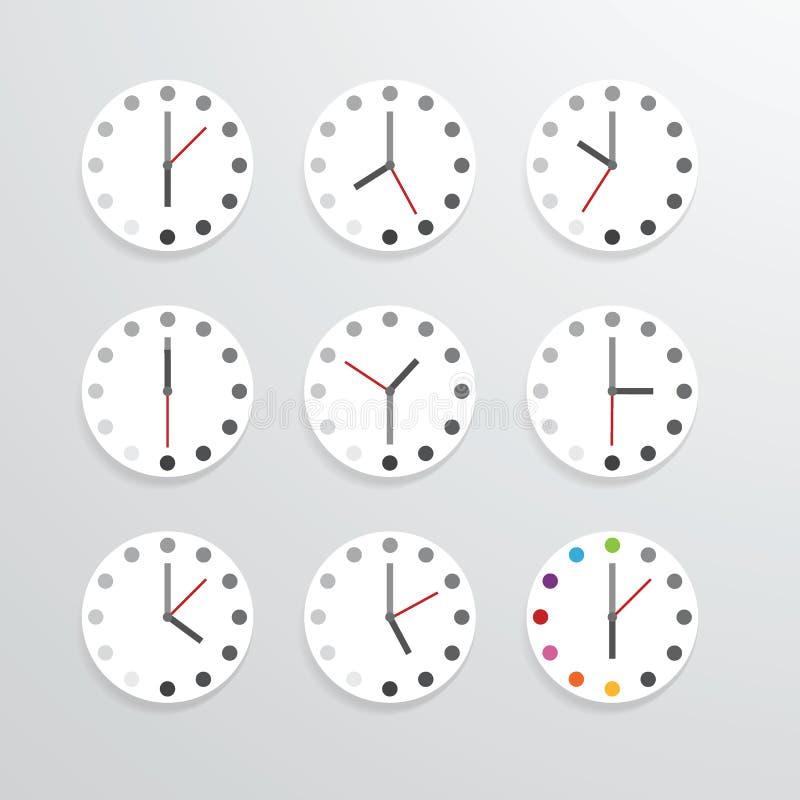 Clock flat icon app vector illustration. Clock flat icon app vector illustration stock illustration