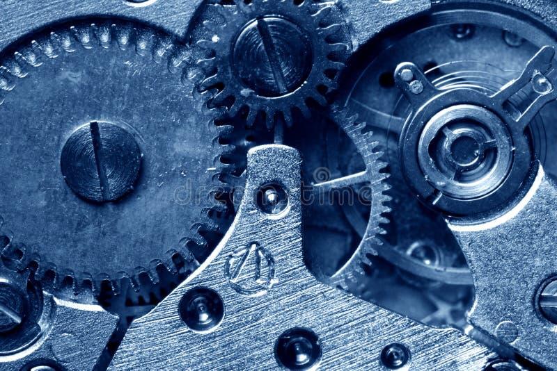 Clock gear. Macro close up stock images