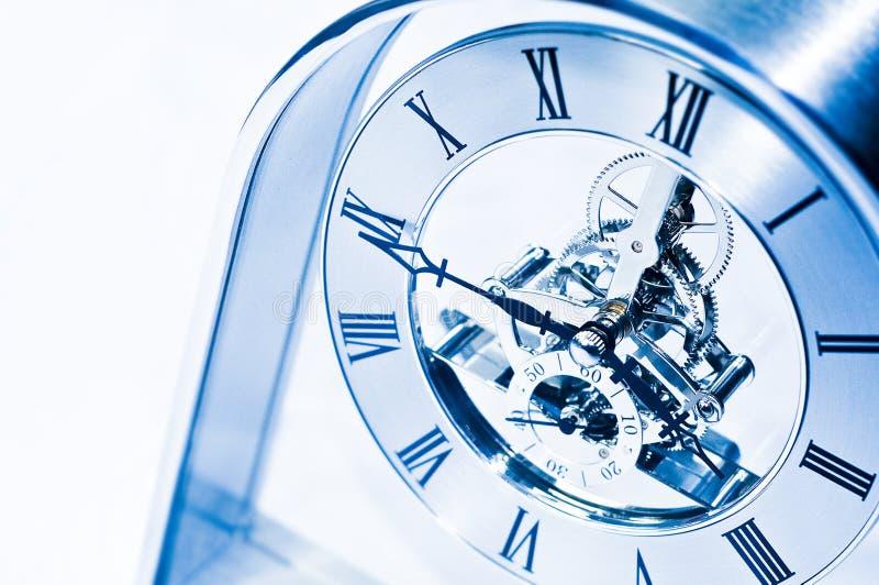 Clock gears. Close of of clock with gear mechanism stock photos