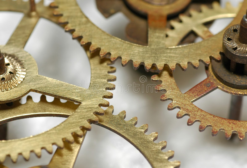 Clock gears royalty free stock photography