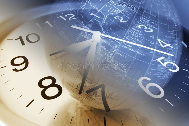 Clock and Globe royalty free stock photos