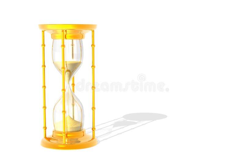 Clock in gold vector illustration