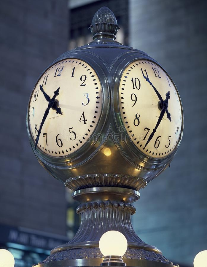Clock in Grand Central Station, New York stock photos