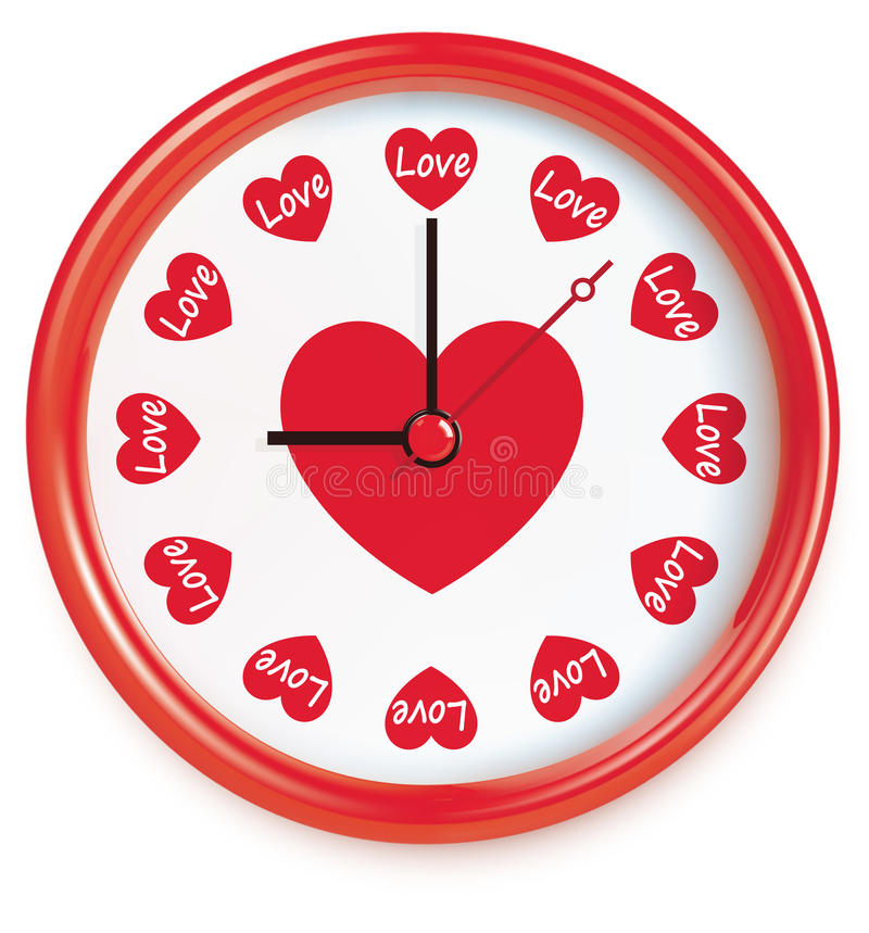 Download Clock with hearts. Vector stock vector. Image of ideas - 31261831