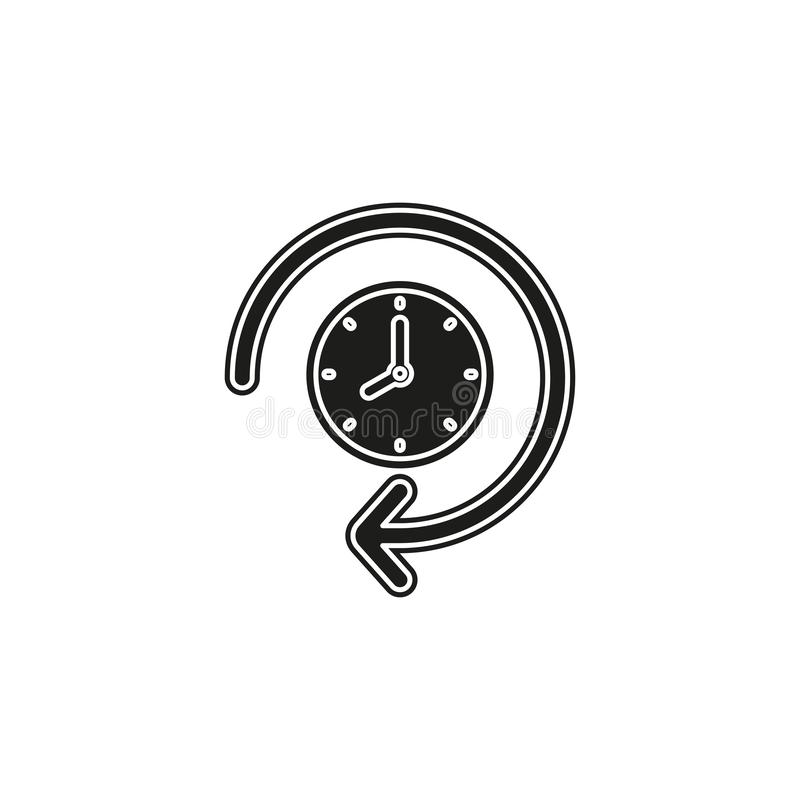 clock 24 hours icon, vector time vector illustration
