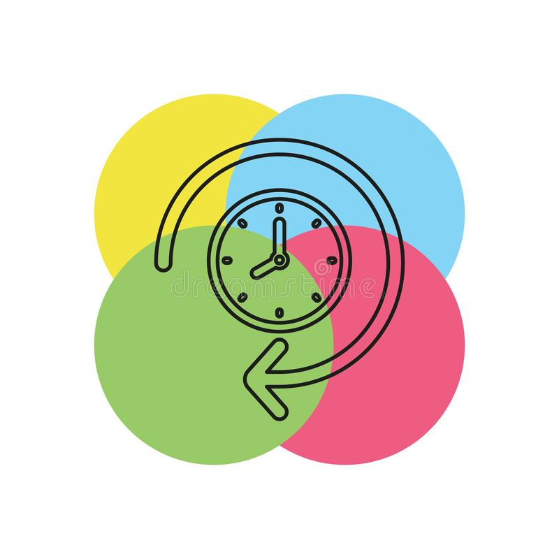 clock 24 hours icon, vector time royalty free illustration