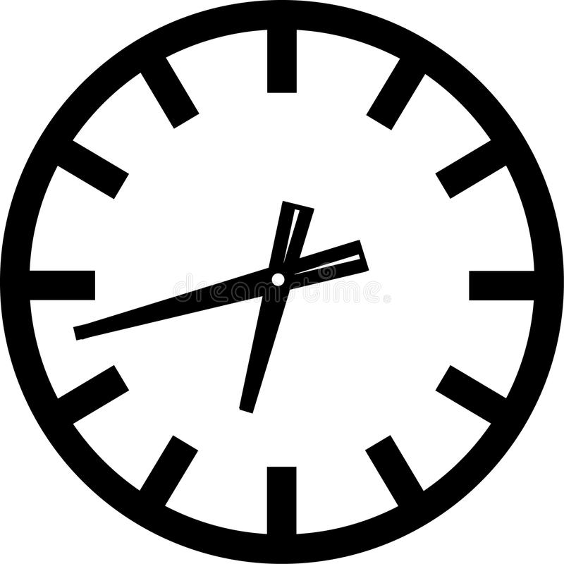 Clock Icon. Vector illustration of a clock