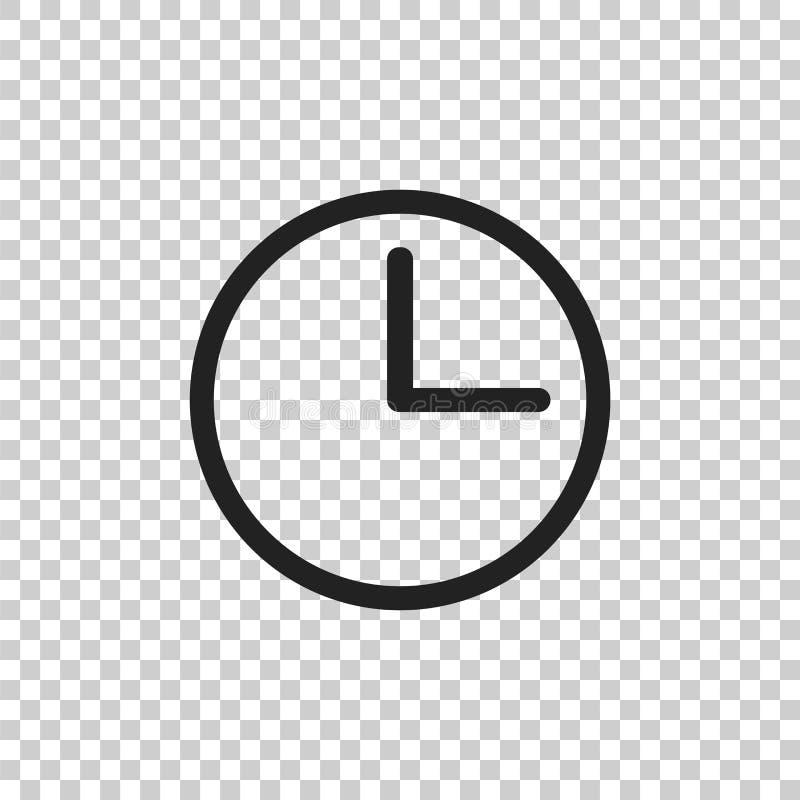 Clock Icon Illustration  Flat Vector Clock Pictogram Stock