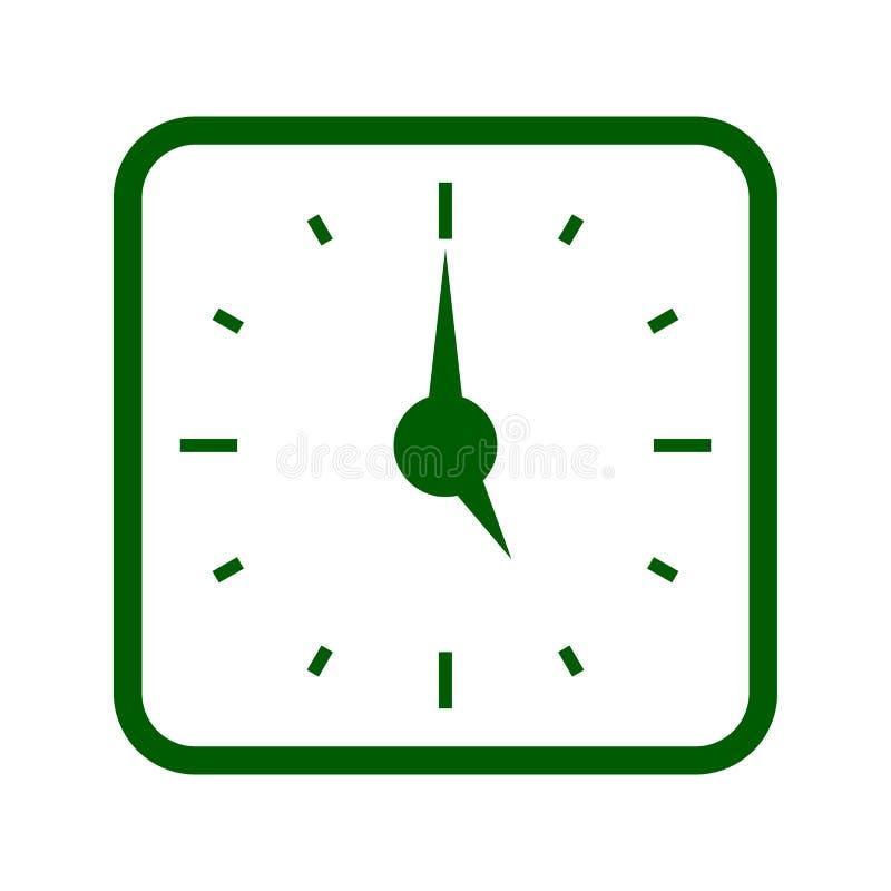 Clock icon isolated on white background stock illustration