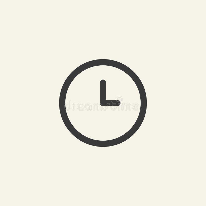 Clock icon. stock illustration