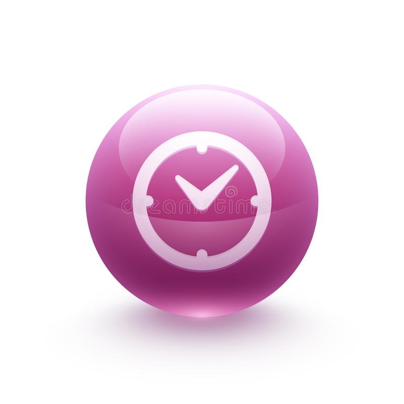Clock icon sphere vector illustration