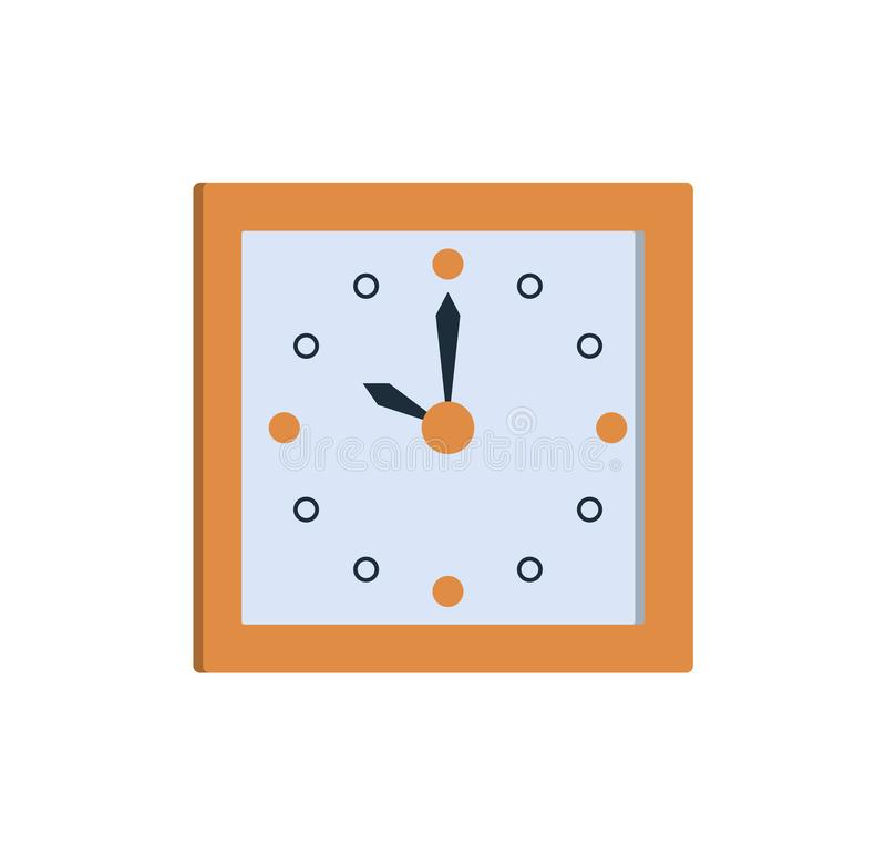 Clock Icon Square Wall Clock Showing Time Vector royalty free illustration