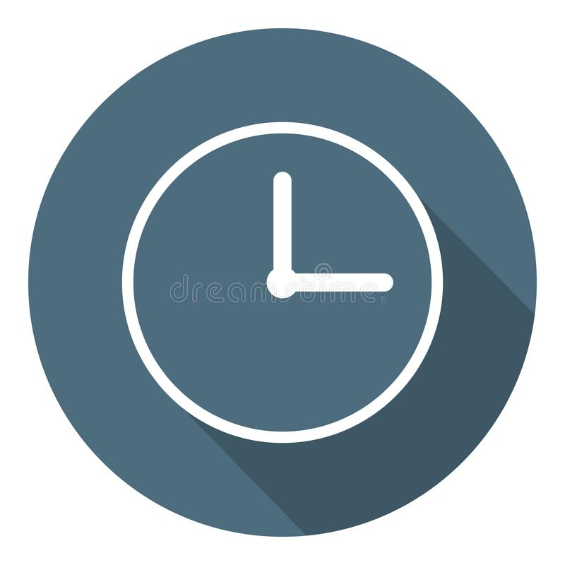 Clock Icon. Time Symbol. Outline Flat Style. Vector illustration for Your Design, Web stock illustration