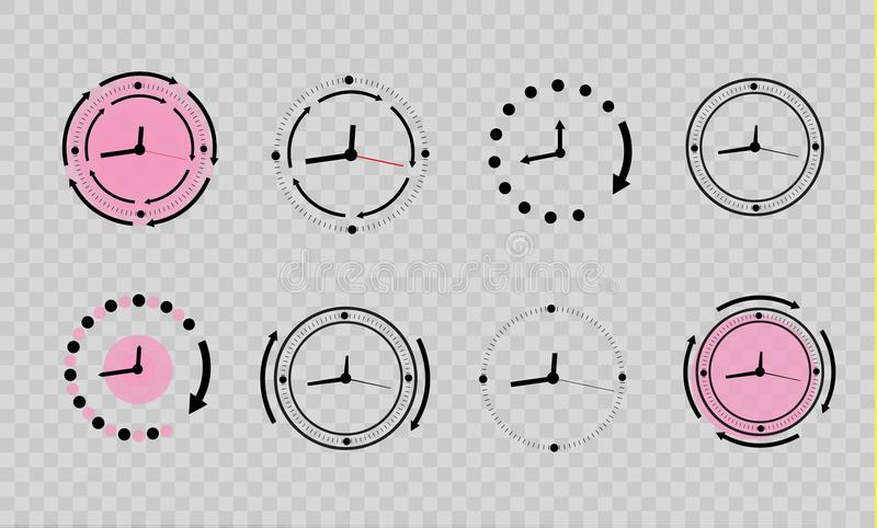 Clock icon in trendy flat style isolated on background. Clock icon page symbol for your web site design. Vector stock illustration