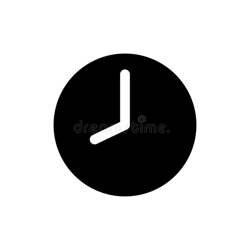 Clock icon in trendy flat style isolated on background. Clock icon page symbol for your web site design.  royalty free illustration