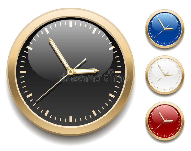 Clock icons stock illustration