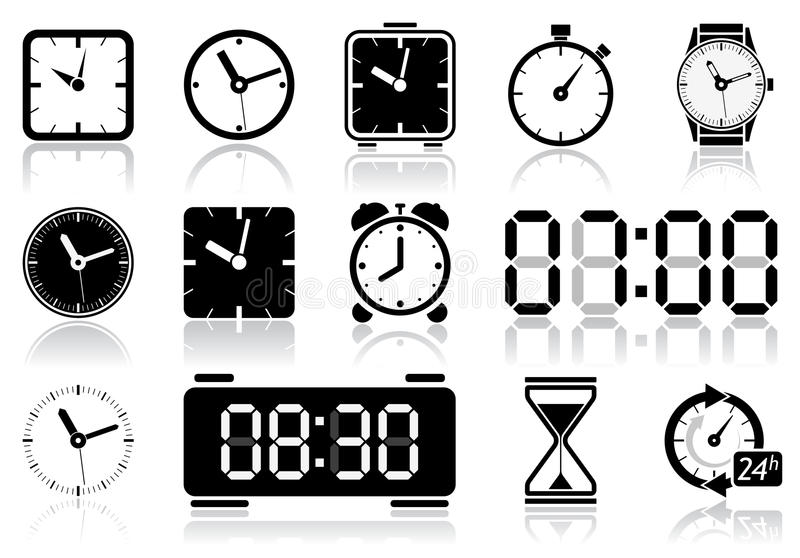 Download Clock icons stock vector. Image of classic, accuracy - 31260993