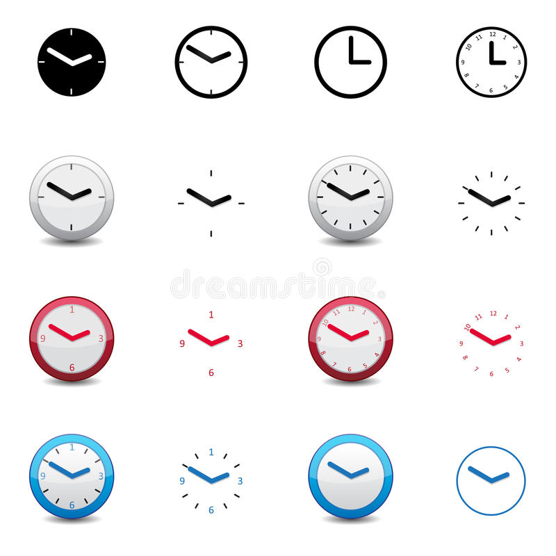 Download Clock icons stock vector. Image of board, icons, dial - 31979860