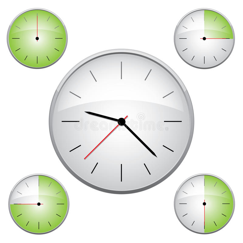 Clock Illustration Royalty Free Stock Photography
