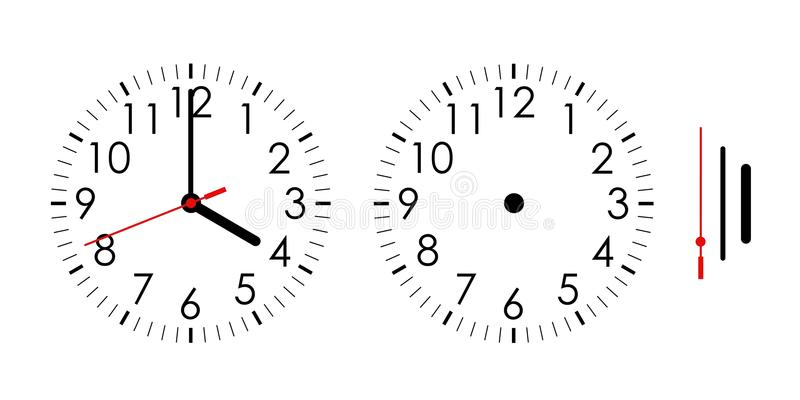 Clock stock illustration