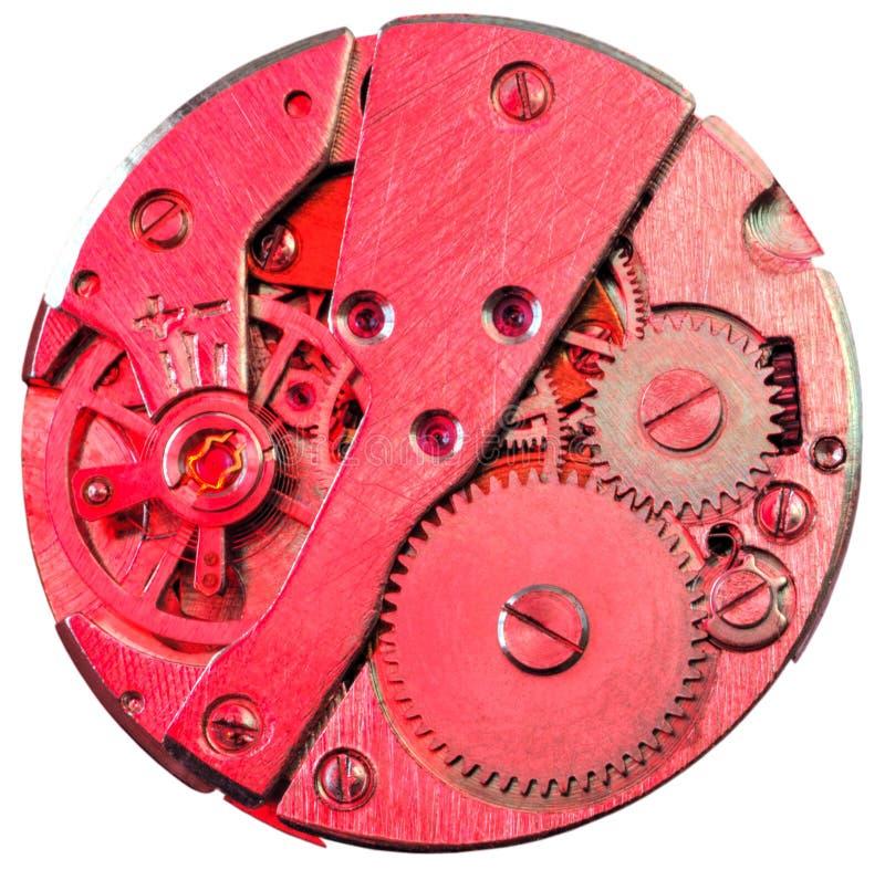 Clock inside. Mechanical clock inside view closeup royalty free stock photos