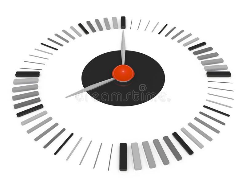 Download Clock stock illustration. Illustration of objects, dial - 33012631