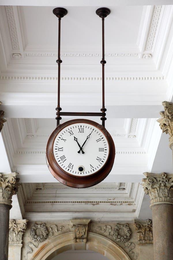 Clock, Karlovy Vary royalty free stock photo