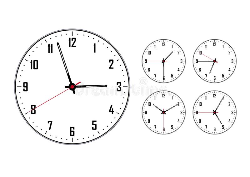Clock: large and a few small royalty free illustration