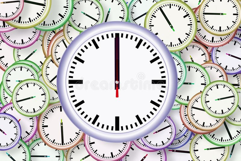 Clock, Line, Font, Circle stock photo