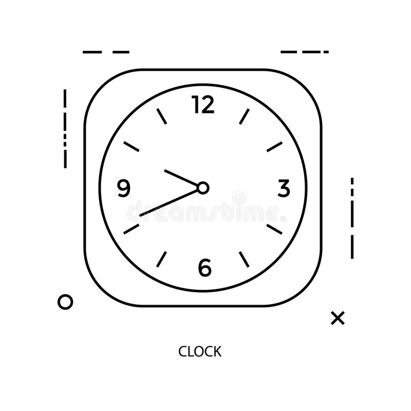 clock line icon royalty free stock image