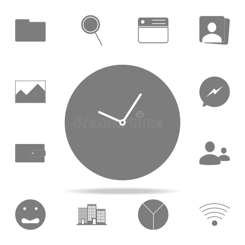 Clock logo icon. web icons universal set for web and mobile vector illustration