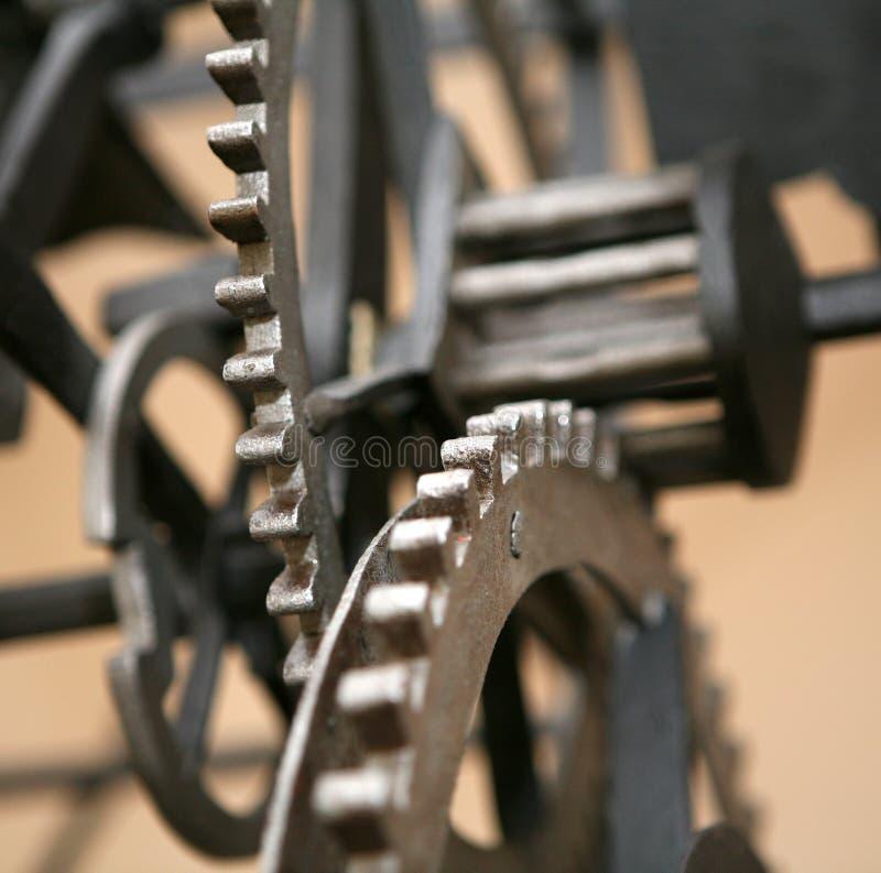 Clock machine. Clock mechanism in old tower clock