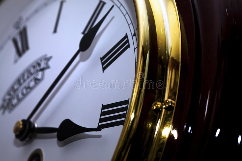 Clock Macro Detailed. Time Project royalty free stock images