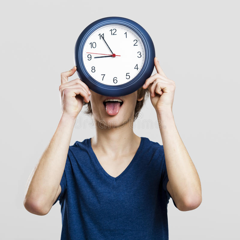 Download Clock man stock photo. Image of funny, business, hungry - 23951736