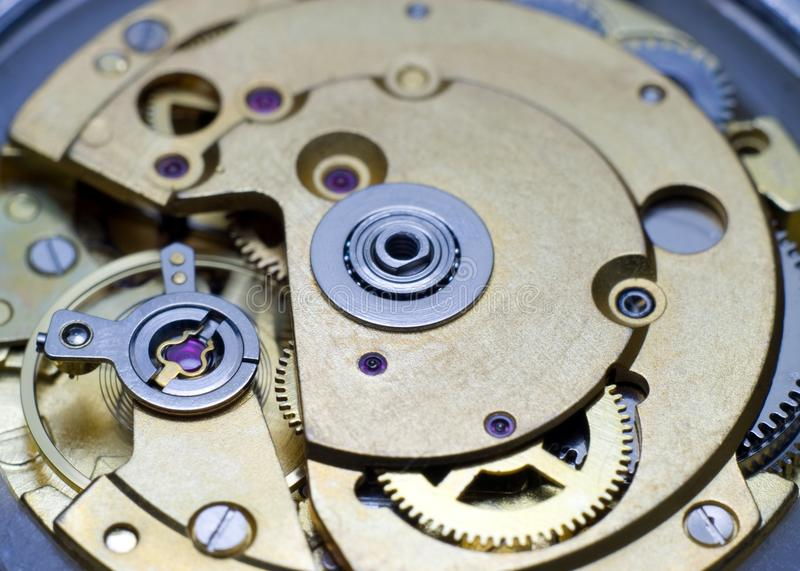 Clock mechanism. royalty free stock photo