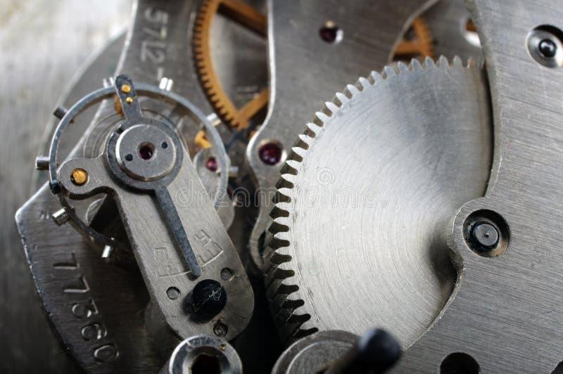 Clock mekanismen royaltyfria bilder