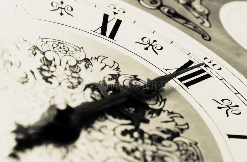 Download CLOCK - Midnight time stock image. Image of meeting, antique - 1104601
