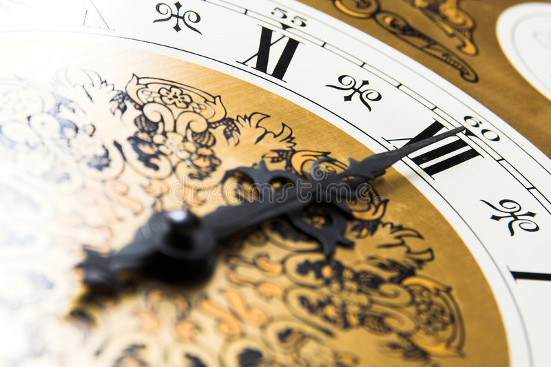CLOCK - Midnight Time Stock Images