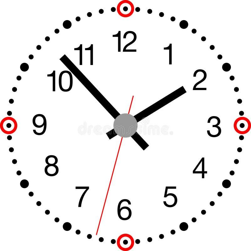 Clock_modern illustration libre de droits