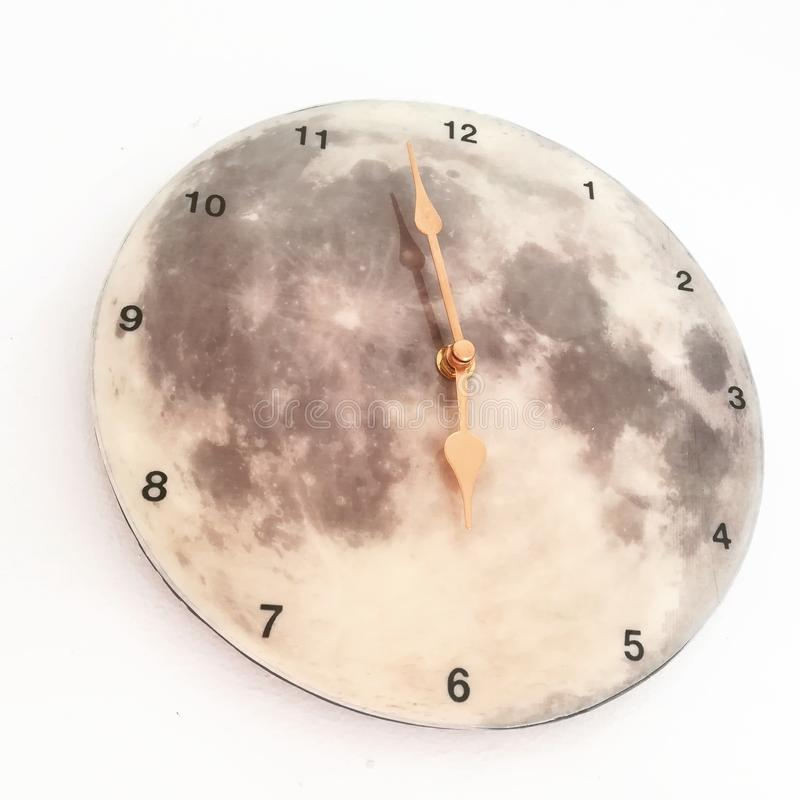Clock moon stock images