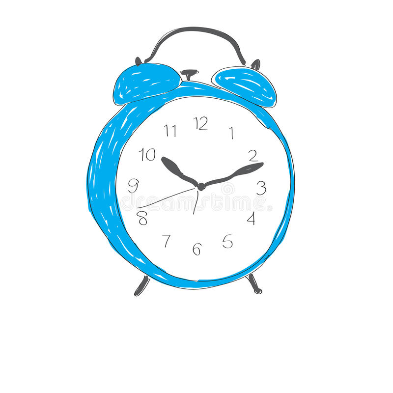Clock morning stock image